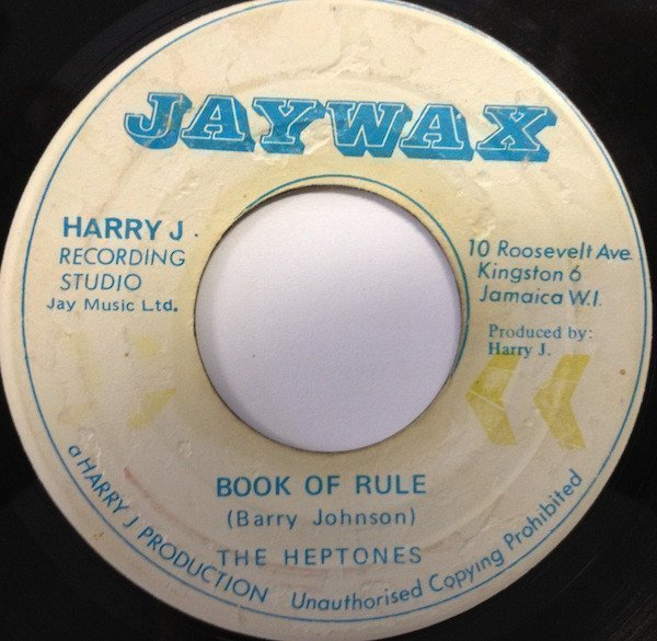 The Heptones - Book Of Rule