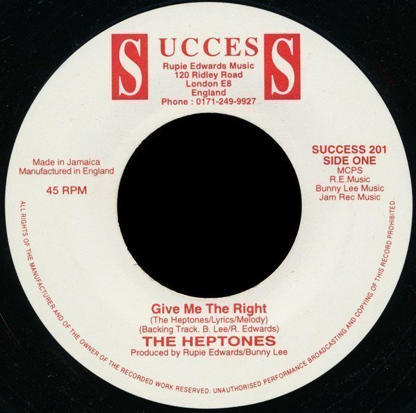 The Heptones - Give Me The Right / Give Me Love And Affection