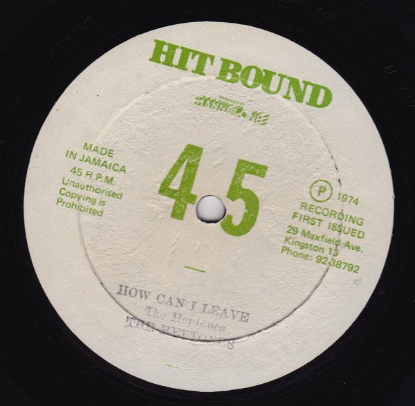 The Heptones - How Can I Leave / Every Day Every Night