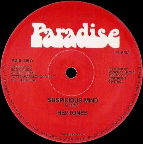 The Heptones - Suspicious Minds / Crystal Blue Persuation