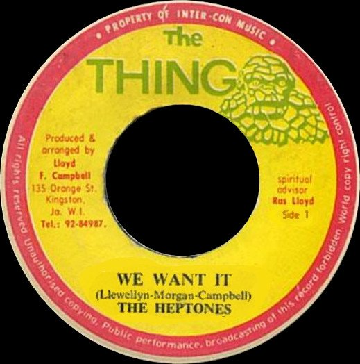 The Heptones - We Want It / In Cold Blood