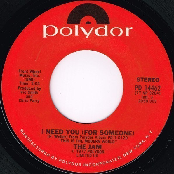 The Jam - I Need You (For Someone)