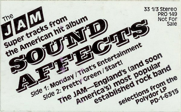 The Jam - Super Tracks From The American Hit Album Sound Affects