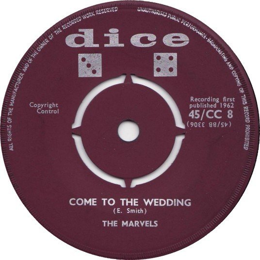 The Marvels - Come To The Wedding / Angelo
