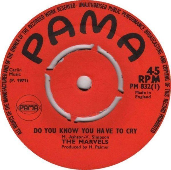 The Marvels - Do You Know You Have To Cry / Love Power