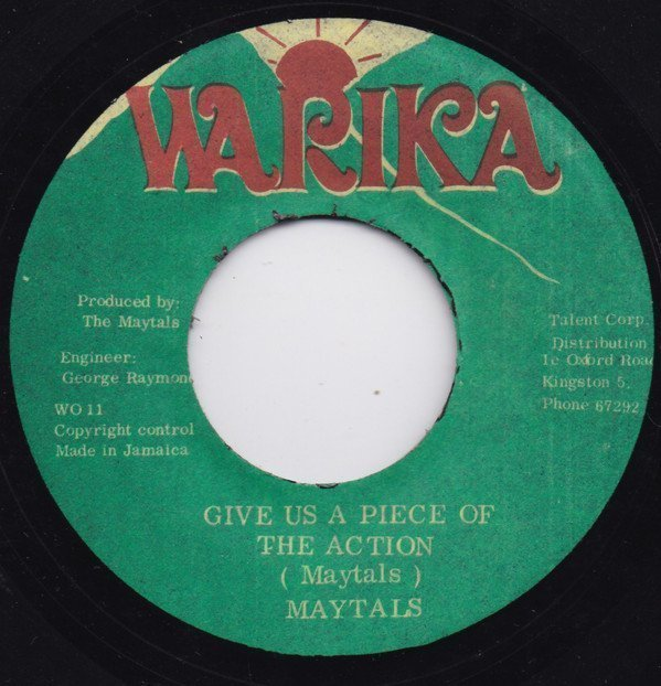 The Maytals - Give Us A Piece Of The Action / Virgo