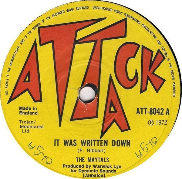 The Maytals - It Was Written Down