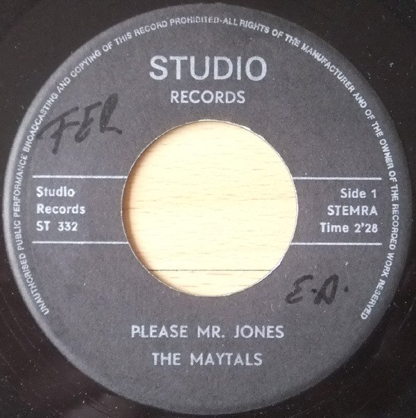 The Maytals - Please Mr. Jones / Since You Leave Me