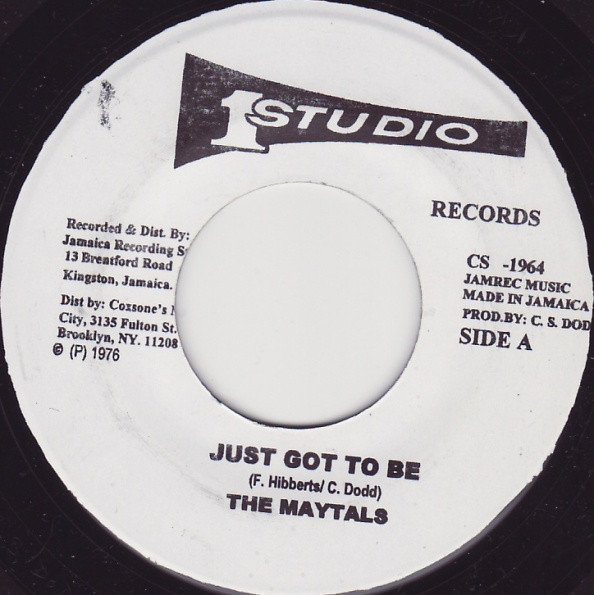 The Maytals - Tougher Than Tough  / Pressure Drop