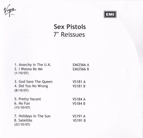 "The Sex Pistols - 7"" Reissues"