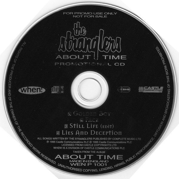The Stranglers - About Time Promotional CD