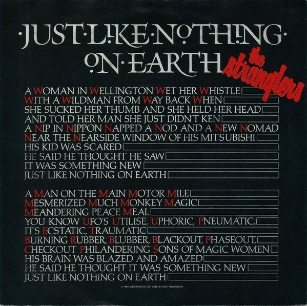 The Stranglers - Just Like Nothing On Earth