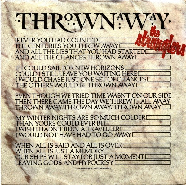 The Stranglers - Thrown Away
