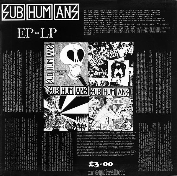 The Subhumans - EP-LP