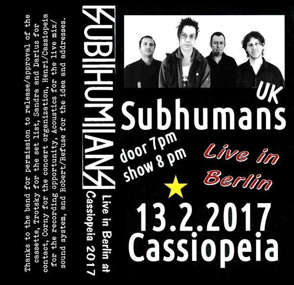 The Subhumans - Live in Cassiopeia
