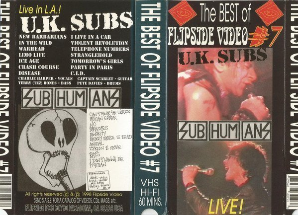 The Subhumans - The Best Of Flipside Video # 7