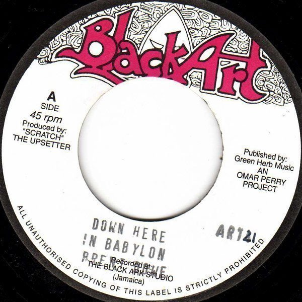 The Upsetters - Down Here In Babylon / If The Cap Fits
