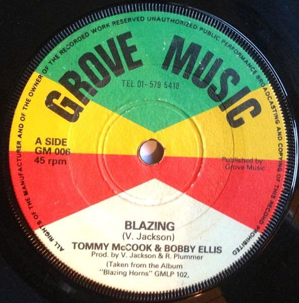 Tommy Mc Cook - Blazing / No Water