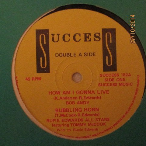 Tommy Mc Cook - How Am I Gonna Live/Bubbling Horn/Mysterious Nature