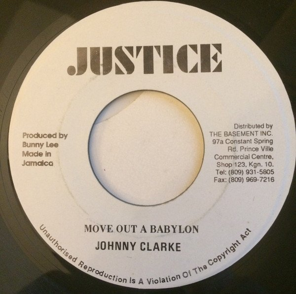 Tommy Mc Cook - Move Out Of Babylon Rastaman / A Moving Version (Horns Cut)
