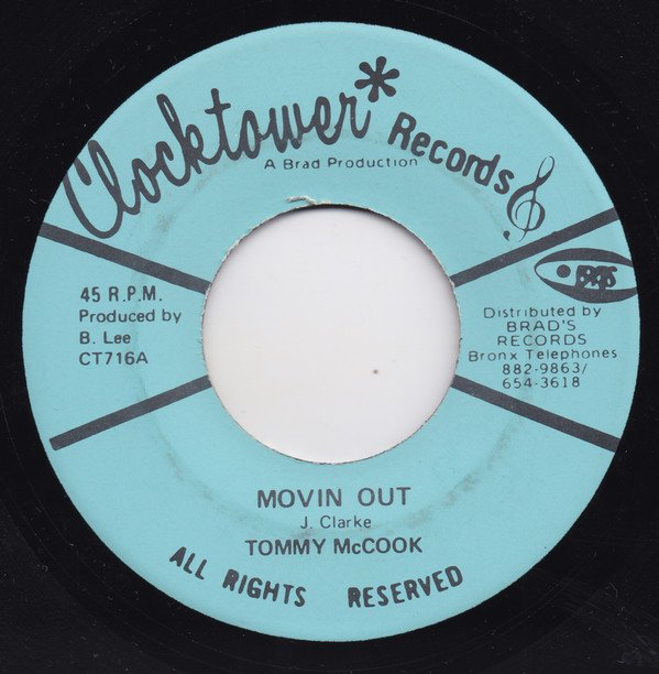 Tommy Mc Cook - Movin Out / Dance With Me
