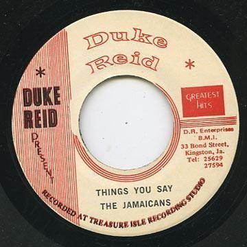 Tommy Mc Cook - Things You Say / Version
