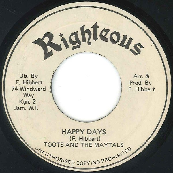 Toots And The Maytals - Happy Days