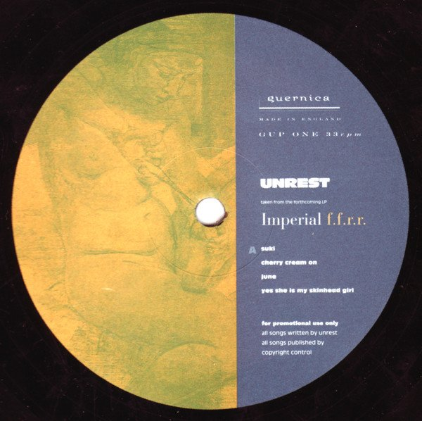 Unrest - Imperial F.F.R.R. / Leaves Me Blind