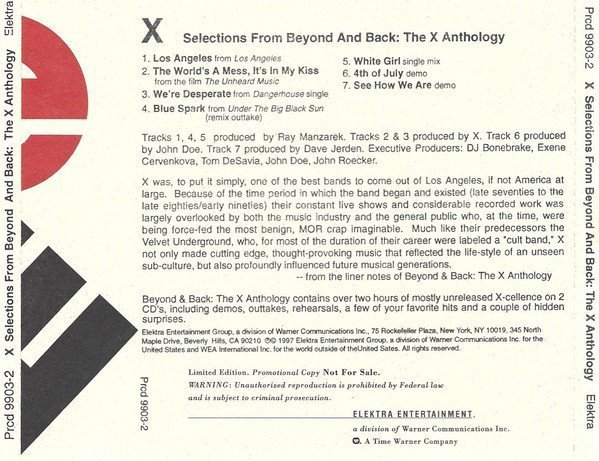X - Selections From Beyond And Back: The X Anthology